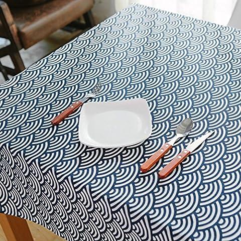 Tessuto blu marino giapponese tovaglia vintage/ bella in fresca cotone/ Giappone il panno tradizionale arte povera/ Gabe-B 40x60cm(16x24inch)