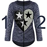 BEZLIT Mädchen Pullover Pulli Wende-Pailletten Sweatshirt 21517 Blau Größe 164 Vergleich