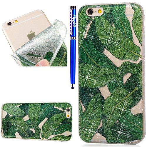 EUWLY Schutzhülle für iPhone 6S Plus/iPhone 6 Plus, TPU Case für iPhone 6S Plus/iPhone 6 Plus Shinning Glitzer Kristall Handy Hülle Case Tasche, Glänzend...