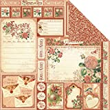 Graphic45 February Cut Apart, Pack of 10, Multi-Colour