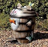 Lustiger Katzen Eimer, Abfall Treteimer für den Garten, Grilleimer