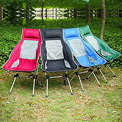 U-HOME Folding Camping Chair , Compact Portable Ultralight Folding Backpacking Chairs in a Carry Bag for Hiker , Camping , Beach , Fishing , Picnic , Outdoor , Garden , BBQs (Hold up to 400 lbs) by U-Homewee