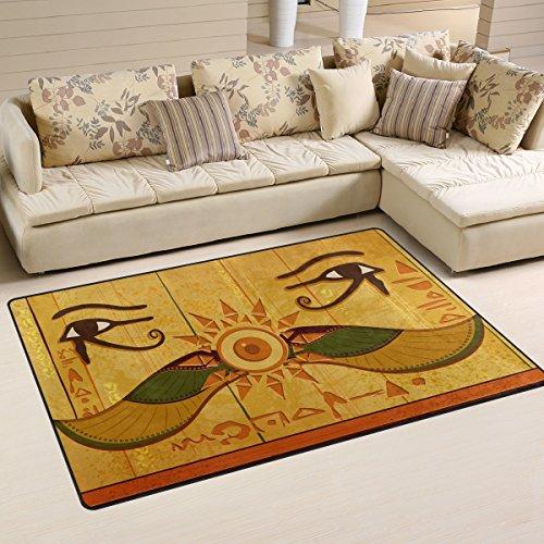 Antik-gold-teppich (ingbags Super Weich Moderner Antik Ägyptische und Altes Ägypten, ein Wohnzimmer Teppiche Teppich Schlafzimmer Teppich für Kinder Play massiv Home Decorator Boden Teppich und Teppiche 78,7x 50,8cm)