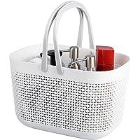 Panier rangement en plastique avec poignées, corbeille rangement, organisateur de bacs de douche pour salle de bain et…