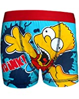The Simpsons Bart Official Gift 1 Pack Boys Boxer Shorts Blue