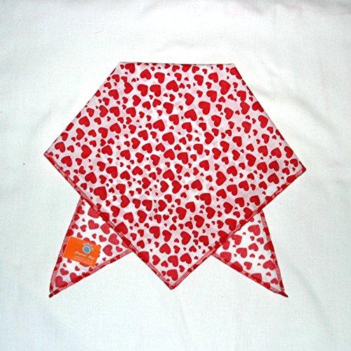 Premier Dog Hunde Valentine rot Herzen Hund Bandana/Schal (Schal Valentine Herz)