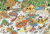 Jumbo Games 19017 Jan Van Haasteren Wild Water Rafting Jigsaw Puzzle (3000-Piece), Multicolour
