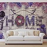 Home Blumen Lila - Forwall - Fototapete - Tapete - Fotomural - Mural Wandbild - (3514WM) - M - 104cm x 70.5cm - VLIES (EasyInstall) - 1 Piece