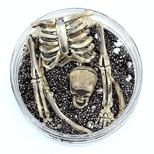 DERKOLY Halloween Horror Skeleton Schädel Schleim Putty Schlamm Plastilin Clay Slude Dekoration Prop Spielzeug