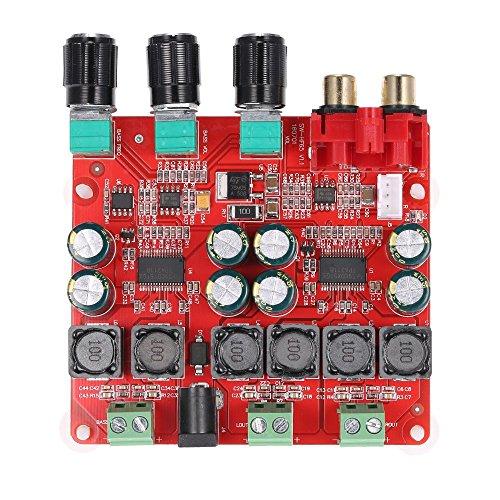 DollaTek TPA3118 2.1 Digitale Leistungsverstärker-Platine, 30W + 30W + 60W (Bass) BTL 60W Binauraler Stereo-Audio-Verstärker, Computer-Verstärker Stereo für Heimkino Aktive Lautsprecher-Anwendungen (Computer-lautsprecher-verstärker)
