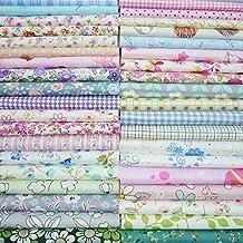 50 piezas de 20 cm x 25 cm parte superior de tela de algodón cuadrados DIY