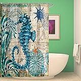 BKPH Kreative Design Tiere Schlafzimmer Duschvorhang Liner Mehltau Resistant Stoff Duschvorhang Ser mit 12 Haken, E, 175 * 180cm