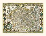 Historische Karte: Deutschland - Germania, 1607. Kartograph: Jodocus Hondius [1563 bis 1612]