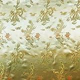 Gold 114,3cm breit geflochten Chinesischer Drache Brokat