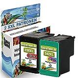 Premium 2er Set Kompatible Tintenpatronen Als Ersatz für HP 338 XL + HP 342 XL für Photosmart 3180 C3180 3100 C3100 3110 C3110 C3170 3170 C3190 3125 C3125 7850V 3193 C3193 2710 3173 C3173 3188 C3188 3140 C3140 7800 Druckerpatronen (Schwarz , Farbig) 1x338-1x342-hp