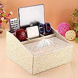 TRE Boîte de papier serviette multifonctions créatives/Style européen Bureau remote control boîte de rangement/Box-N
