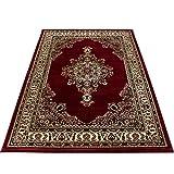 Teppium tappeto orientale orientale tradizionale medaglione orientale a macchina intrecciato a macchina rosso, Maße:160x230 cm