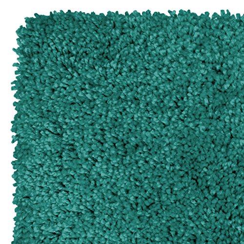 Home Life Alfombra con Diseño Super Shaggy, Polipropileno, Azul Turquesa, 60 x 110 cm