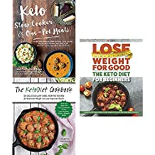 Keto slow cooker and one pot meals, ketodiet cookbook and keto diet for beginners 3 books collection set
