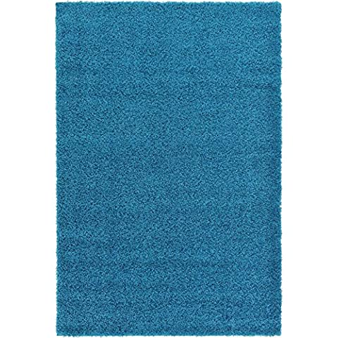 4cm Shaggy, Blue, 60X110 CM -2'X3'6'' FT