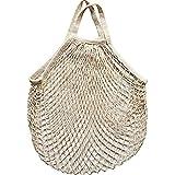 YLCRMBJ Netz-Einkaufstasche, Frucht-Netz-Tasche Baumwollgrün-Einkaufstasche Strand-Fischen-Netz-Tasche Retro Hohle Gesponnene Tasche Multifunktions Haushalt