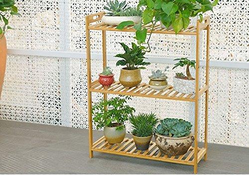 BOBE Shop- Porte-Fleurs en Bambou à Plusieurs étages (Taille : 100 * 25 * 90cm)
