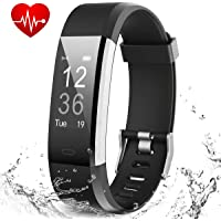 Muzili Fitness Band Smart Watch for Men Women Boys IPX7 Waterproof Fitness Tracker with Heart Rate Sleep Monitor 14 Exercise Modes Smart Band GPS Route Tracking USB Quick Charge