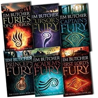 Jim Butcher The Codex Alera 6 Books Collection Pack Set RRP: £47.94 (First Lord's Fury, Academ''s Fury, Cursor''s Fury, Princeps'' Fury, Furies Of Calderon, Captain''s Fury)