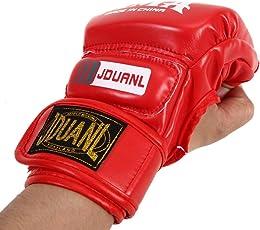 Rrimin Gym Punching Bag Half Finger Gloves Train Sparring Kick Boxing Combat Gloves Mittens