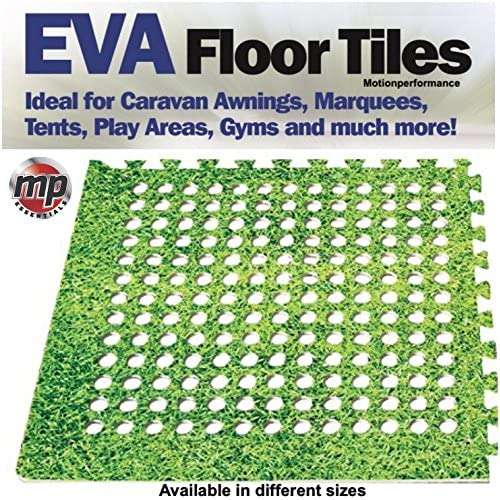 61v6NGG2wsL. SS500  - MP Essentials Soft Padded Eva Foam Floor Mat Tiles for Awnings, Tents, Gyms & Marquees (Grass, 16 Tiles = 64 Square Feet)