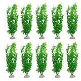Aquariumpflanzen Terrarium Deko Kunstpflanze aus Plastik 26cm (10pcs)