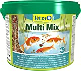 Tetra Pond Multi Mix (ausgewählte Futtermischung aus Flocken, Sticks, Wafern und Gammaruskrebsen für alle Gartenteichfische), 10 Liter Eimer