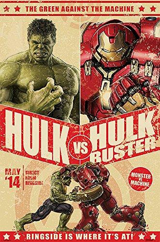 Avengers-Age-of-Ultron-Poster-Hulk-vs-Hulk-Buster-Poster-Groformat-61cm-x-915cm