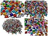 Glitersteine Bastel Set 2200 Steine 16 bis 5mm große glitzernde bunte Runde Steinchen Deko Strass Mosaik Bekleben Strass-Steine Acrylsteine transparent klar kristall basteln Gltzersteine Strass Steine zum Verzieren von CRYSTAL KING