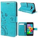 jbTec® Flip Case Handy-Hülle zu Samsung Galaxy Grand Prime/SM-G530H / SM-G531F - Book Muster Schmetterlinge S16 - Handy-Tasch