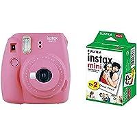 Fujifilm - Instax Mini 9 - Pack d'Appareil photo instantané avec 1 Film Monopack - Rose & Fujifilm - Twin Films pour…