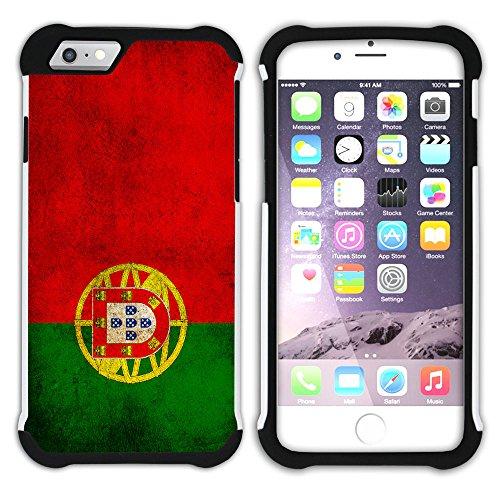 Graphic4You Vintage Uralt Flagge Von Finnland Finnisch Design Hart + Weiche Kratzfeste Hülle Case Schale Tasche Schutzhülle für Apple iPhone 6 / 6S Portugal Portugiesisch