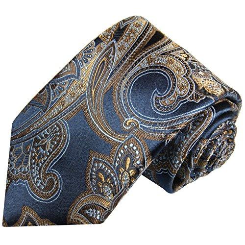 cravate-homme-bleu-brun-dor-paisley-100-cravate-en-soie-longueur-165cm-