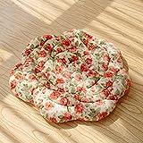 Aik@ Waschbar Bodenkissen,Boden-kissen Bestuhlung Hocker Hocker Runde Atmungsaktiv Für Tatami Leseecke Balkontür-G Durchmesser:18 Zoll