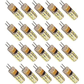20 G4 AC DC 12 V 2 W LED Bombilla 150 lúmenes equivalente a 20 W 360º No Regulable Blanco Cálido 3000 K
