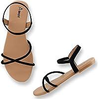 ABIOT Women Stylish Trending Fancy Flat Fashion sandal
