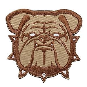 Kingnew Mil Spec de singe Bulldog Tête insigne Militaire Insignia Morale brodé Patch (Gris)