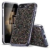 ESR Coque iPhone 7 Plus Noir, Coque Brillante Diamant Etoile Paillette, Protection...