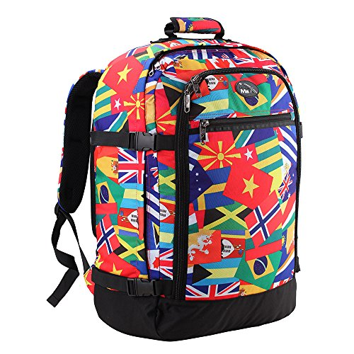 Cabin Max Backpack Flight Approved Carry On Bag Massive 44 litre Travel Hand Luggage 55x40x20 cm (Flags)