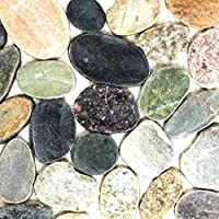 Fliesen Mosaik Mosaikfliese Bad WC Keramik Classic Kiesel weiß 5mm Neu #K088