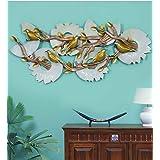 Mahalaxmi Art Handcrafted Iron Wall Hanging Peacock Birds LED - 3.5ft, Multicolor