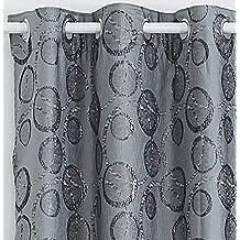 x cortinas modernas para ventanas de saln habitacin dormitorio con ojetes tejido jacquard con hilos