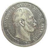 Silber Münze 5 Mark 1875 B Preußen König Wilhelm I - Jäger Nr. 97 Deutsches Reich / Kaiserreich