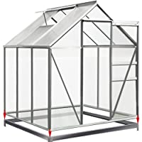 Deuba Greenhouse Base Size Choice (6ft x 6ft) Solid Foundation Galvanised Steel Frame Ground Fixation