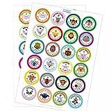 120 runde Aufkleber / Motivation / Lob / Erziehung, Schule, Kita, Kindergarten, Vorschule, Uni / Aufkleber Sticker zum Motivieren / Für Lehrer und Schüler